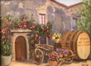 Working Farm, San Gigmanano, Italy 12x16 (2)
